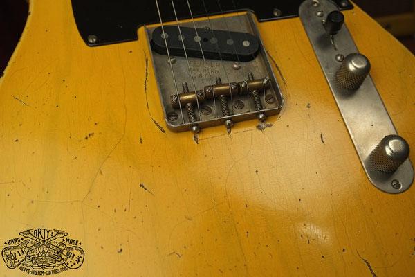 Nocaster Broadcaster Relic Repro Butterscotch Telecaster www.artys-cusom-guitars.com