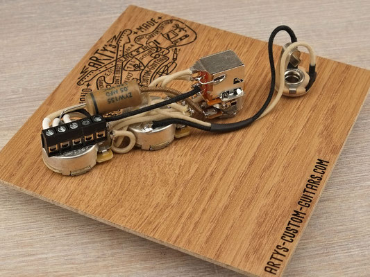 SOLDERLESS PREWIRED KIT JAZZ BASS Serie Parallel artys-custom-guitars.com