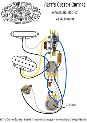 wiring diagram broadcaster 1950 tele arty's custom guitars