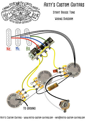STRATOCASTER Wiring Diagram BRIDGE TONE Arty's Custom Guitars