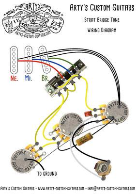 STRATOCASTER Wiring Diagram BRIDGE TONE Arty's Custom Guitars