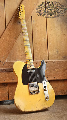 Peggy Sue Butterscotch Blonde heavy relic Maple Neck Swamp Ash Body Bakelite Pickguard aged Nitro Finish Arty's Custom Guitars