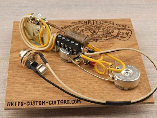 SOLDERLESS PREWIRED HARNESS BROADCASTER NOCASTER  1950-52  Tele artys-custom-guitars.com