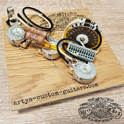 HH STRATOCASTER Blacktop WIRING HARNESS Arty's Custom Guitars