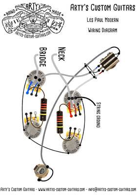 Les Paul Modern Wiring Diagram Vintage Pickups Arty's Custom Guitars