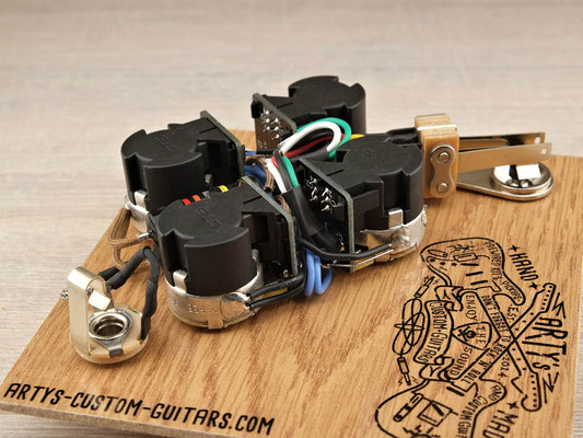 PREWIRED HARNESS GIBSON SG -Jimmy Page artys-custom-guitars.com