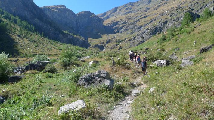 Der lange Abstieg nach Balseglia