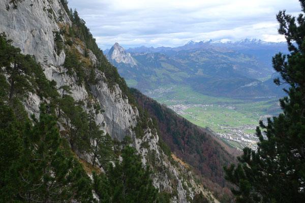 Steile Hänge an der Rigi Hochfluh