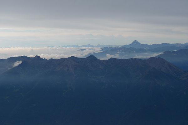 Blick zum Monviso vom Gipfel des Rocciamelone
