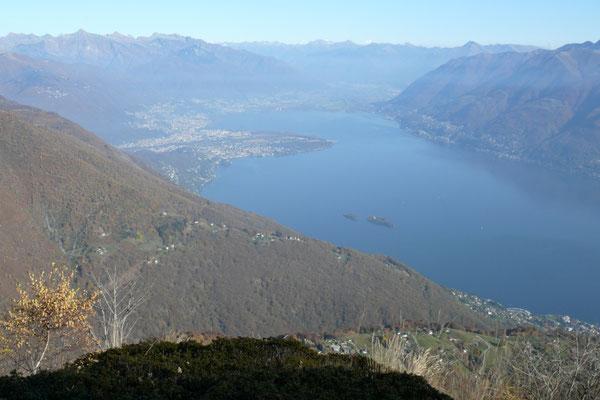 Blick aufs Maggiadelta im Lago Maggiore