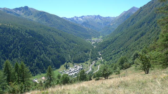 Blick auf die Skistation Ghigo