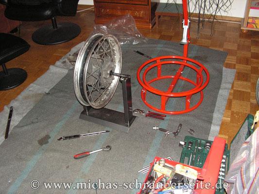 Reifen runter und Felgen- und Radlagertest