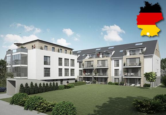 Mehrfamilienhaus mit 20 Wohnung + 1 Gewerbe und Tiefgaragenplätzen in Hergensweiler, Deutschland - Kaufpreis: EUR 8,2 Mio.