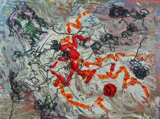 """Waltraud Zechmeister """"Marionette"""" Acryl auf  Keilrahmen 60  x 80, 70,-"""