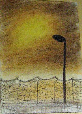 Brighton pier Pastellkreide auf Papier 20 x 30  150,- mit Rahmen