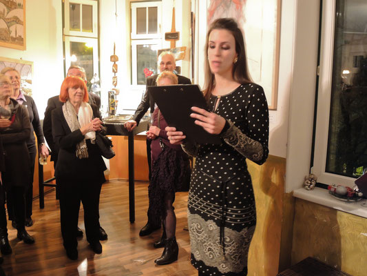 Die Veranstalterin A. Peterova