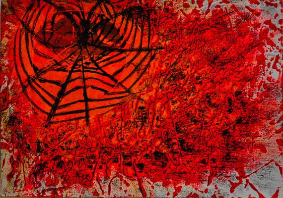 Arachnophobie Mixed media 40 x 30  150,-