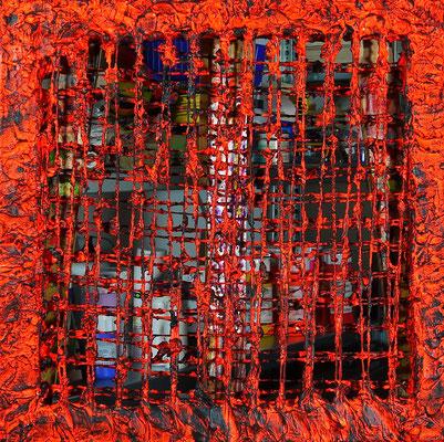 "Waltraud Zechmeister ""Ohne Titel""Acrylkomposition 3D 50 x 50, 500,-"