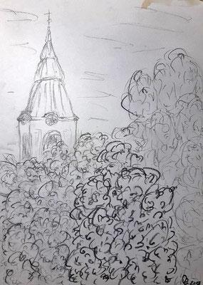 Drosendorf  Bleistift auf Papier 20 x 30   70,-