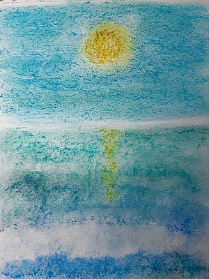 Göttliche Weiblichkeit  Pastellkreide auf Papier 20 x 30