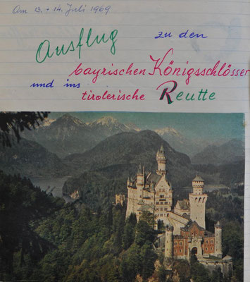 1969: Ausflug zu den byrischen Königsschlösser und ins tirolerische Reutte