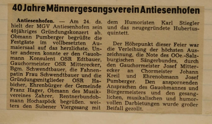 1973: 40 Jahre MGV