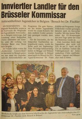 2001: Jugendchor in Belgien