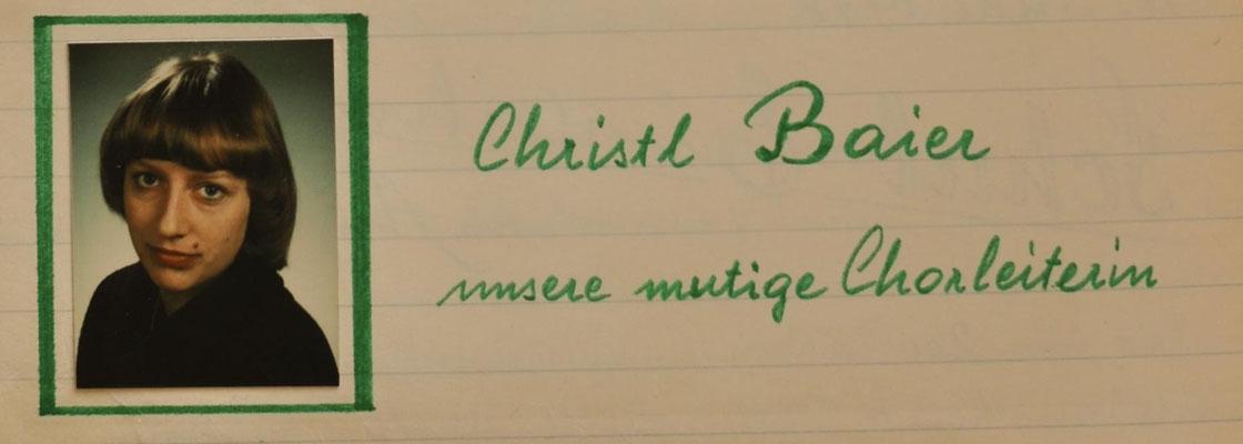 1978: Unsere neue und erste mutige Chorleiterin