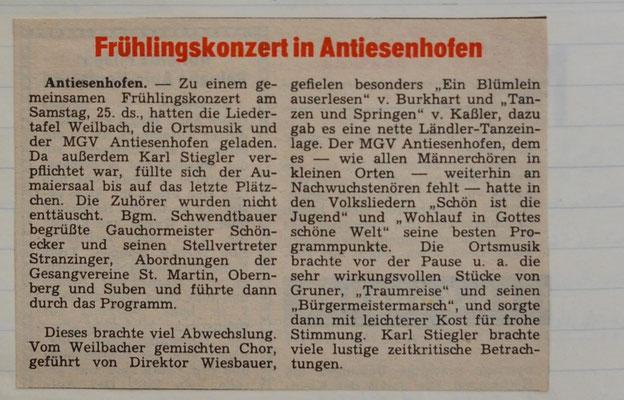 1968: Frühlingskonzert