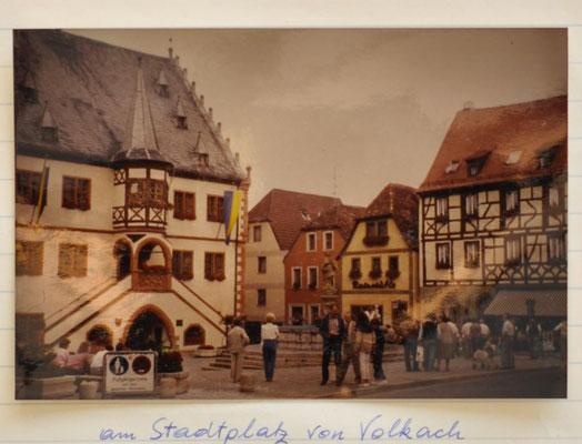 1985: Stadtplatz von Volkach