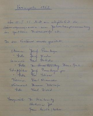1956: Vereinsjahr