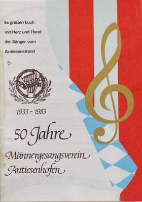 1983: 50 Jahre MGV Antiesenhofen