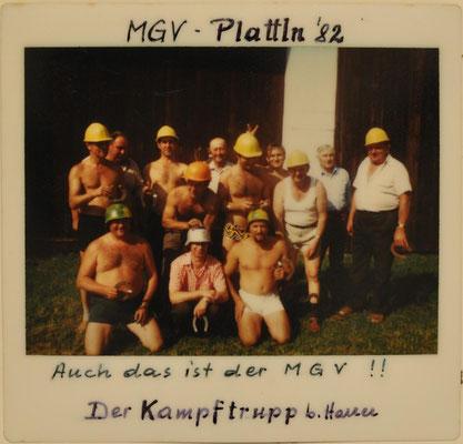 1982: MGV-Plattln