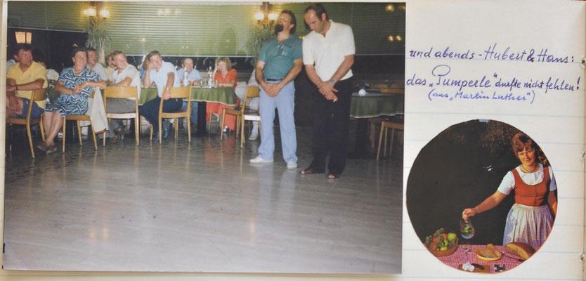 1986: Sängerausflug Südsteirische Weinstraße u. nach Piber