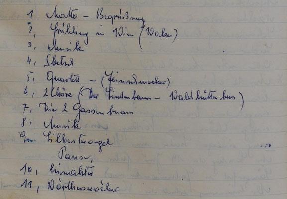 1955: Programm