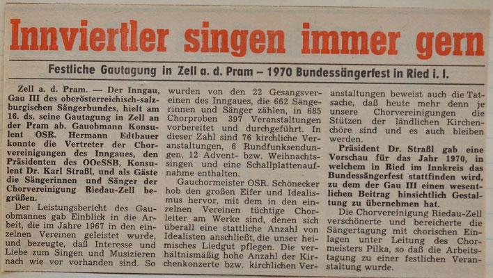 1968: Innviertler singen immer gern