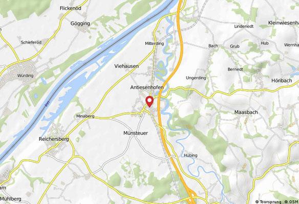 So findet man Antiesenhofen