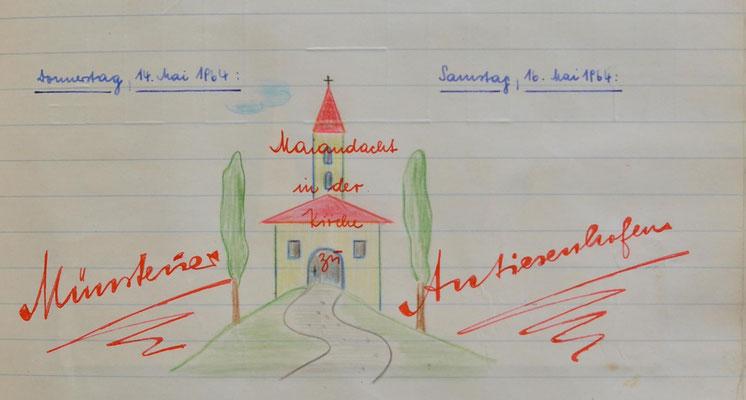 1964: Maiandacht in der Kirche zu Antiesenhofen