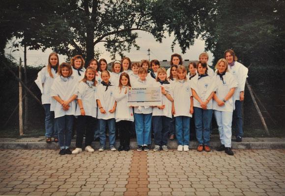 1995: Jugendchor beim Landesjugendsingen