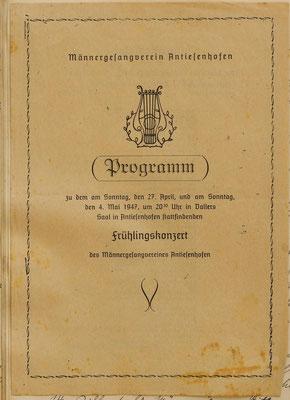 Programm: Frühlingskonzert 1947