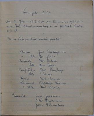 1957: Vereinsjahr