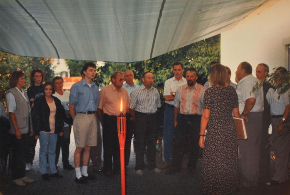 1995: Ständchen für die Jubliarin Christine Baier
