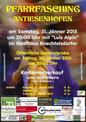[Reg 1]Einladung zum Pfarrfasching Antiesenhofen