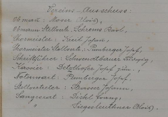 Vereins-Ausschuss: 1946