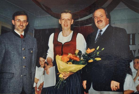 2002: Frühlingskonzert - Note in Gold für Christine Baier!