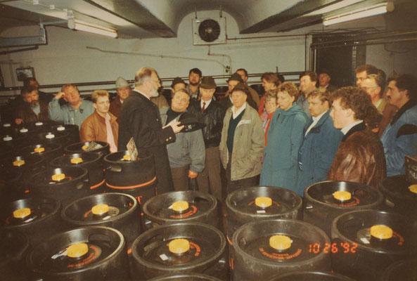 1992: Brauereibesichtigung