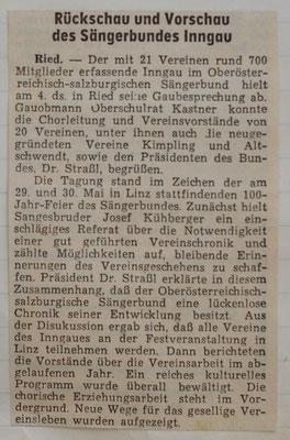 1965-5 Rückschau und Vorschau des Sängerbundes Inngau