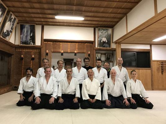 Trainen in de Iwama Ibaraki dojo bij Shigemi Inagaki Sensei