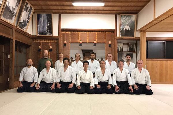 Trainen in de Iwama Ibaraki dojo bij Mitsuteru Ueshiba Sensei