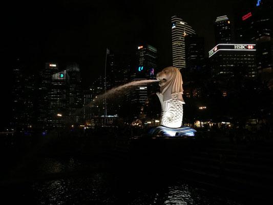 Merlion - das Wahrzeichen Singapores.